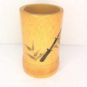 Bamboo Wooden Flower Vase